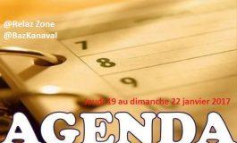 L'agenda du weekend (jeudi 19 au Dimanche 22 Janvier 2017)