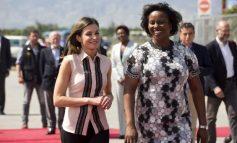 Les premiers instants de la Reine d'Espagne en Haïti