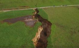 l'ouverture d'une gigantesque faille révèle un site volcanique de 60 000 ans