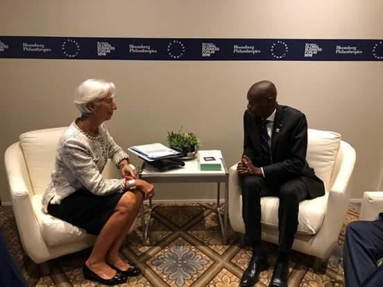 Avec la DG du FMI, Jovenel Moïse espère réduire la pauvreté et promouvoir une croissance inclusive