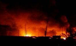 Incendie à Croix des Bossales.
