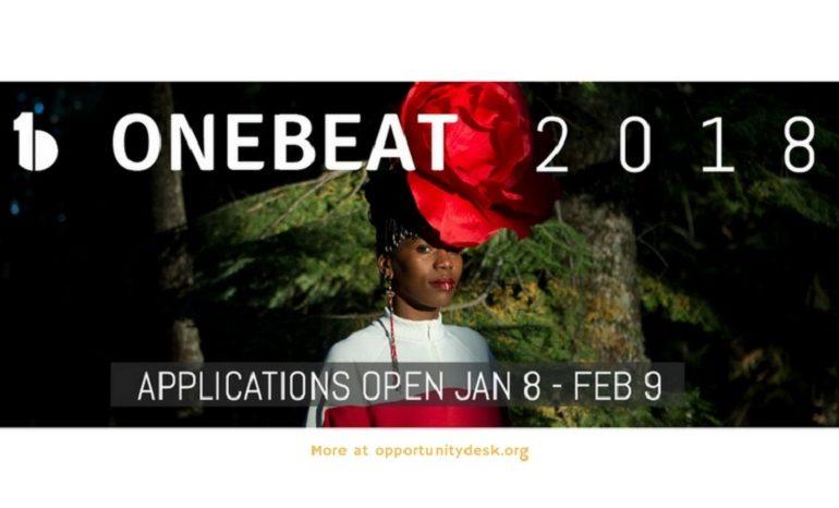 Les inscriptions pour le programme « OneBeat 2018 » sont