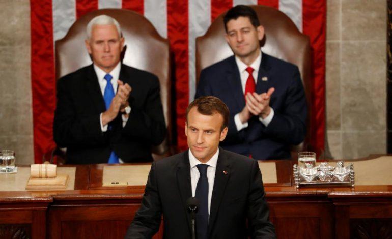 Macron expose sa vision du monde au Congrès américain