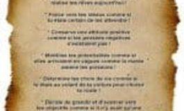 Le Papyrus qui reprend les 10 principes pour Réussir ta Vie !