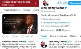 """Les comptes Twitter du Président et du Premier Ministre sont aussi """"lock"""""""