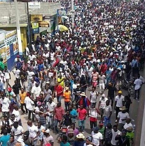 Manifestations – 9 juin : le béton réclame le départ immédiat de Jovenel Moïse