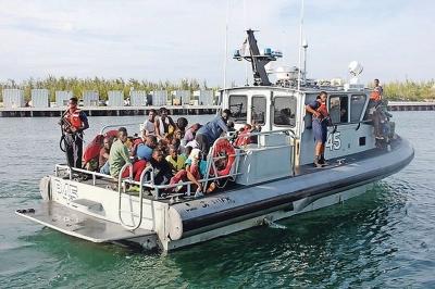 Interception de 100 voyageurs clandestins haïtiens au large des Bahamas