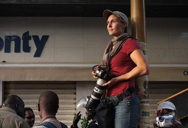 Manifestations en Haïti, Rebecca Blackwell blessée