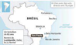 Brésil, premier pays de l'Amérique latine touché par le coronavirus