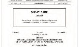 Des voix s'élèvent contre le décret du 21 Mai 2020