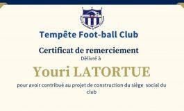 Le sénateur Youri Latortue fait don de 200,000.00 Gourdes au Tempête FC