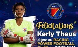 Kerly Théus signe au Racing Power FC du Portugal