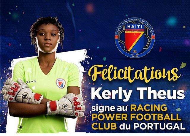 Kerly Théus signe au Racing Power FC du Portugal