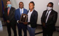 Melchie Daëlle Dumornay dit Corventina honorée par le MJSAC