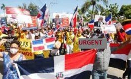 Des Dominicains ont manifesté pour réclamer l'expulsion des haïtiens illégaux