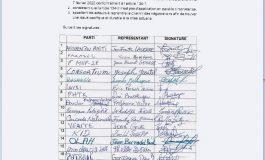 «L'article 134.2 n'est pas d'application » précisent plus d'une quinzaine de partis politiques